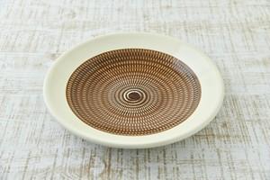 傳 八寸皿  (茶呉須)