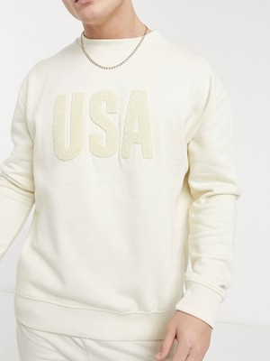 USA boucle print sweat