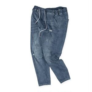 メンズ大きいサイズジーンズ。ダメージデニムブルー