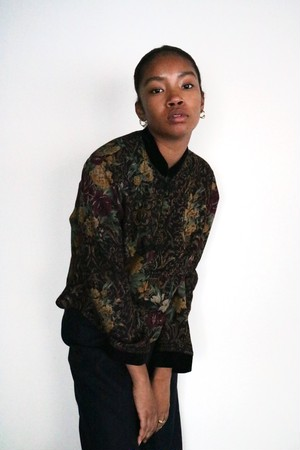 Vintage flower pattern china jacket
