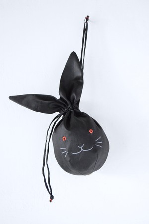 〈相原暦〉usa kinchaku (black)
