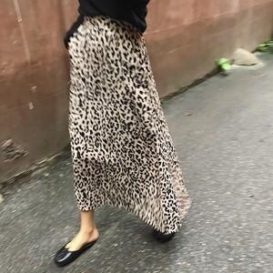 【即:送無】Leopard Long Skirt    レオパードロングスカート ヒョウ柄
