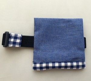 シンプル 保冷袋付き ランチベルト 青