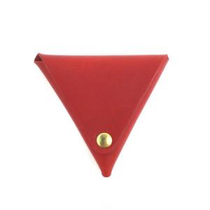 三角コインケース【レッド】