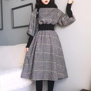 【在庫僅少】【dress】レトロチェック柄ラシャカジュアルワンピース23935965