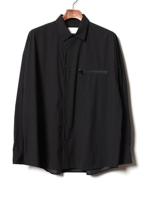 Pocketable Nylon Shirt -black <LSD-BA1S2>