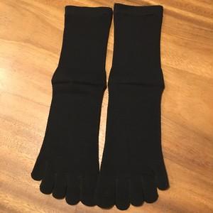 男性用5本指絹綿靴下