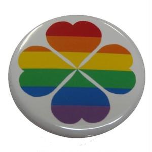 【NEW!!】オリジナル缶バッジ〈レインボー四つ葉のクローバー/Rainbow Four Leaves Clover〉