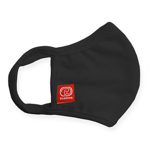 追加販売:ドムドム 洗えるオリジナルマスク(黒3枚セット)