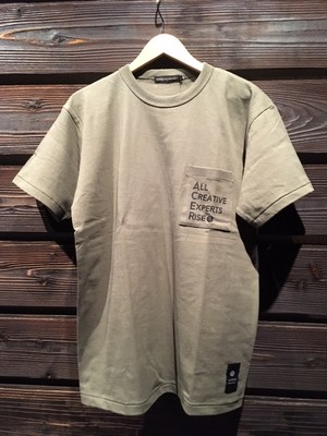 ACER  Bind Neck Henry Cotton Pocket Tee AC20015F Moss Lサイズ