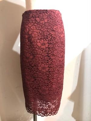 レースペンシルラインスカート