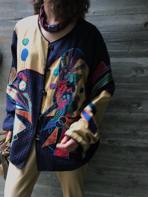 Vintage bird appliqué jacket ( ヴィンテージ 鳥 アップリケ ジャケット )