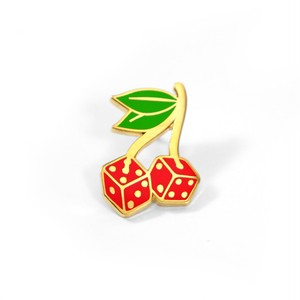 "Toughtimes""Cherry Dice Pin"""