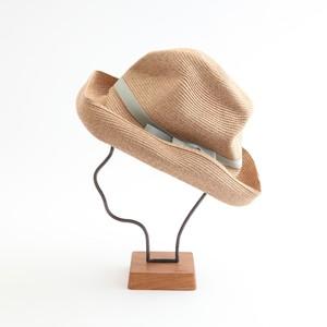 mature ha./BOXED HAT 101 mixbrown×celadon