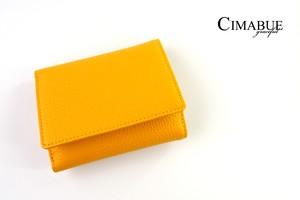 チマブエ グレースフル|CIMABUE graceful |シュランケンカーフ3つ折ミニ財布|イエロー