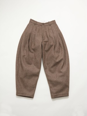 HED MAYNER 8 PLEAT PANT Cedar Brown AW20_P505_CDR/BRW