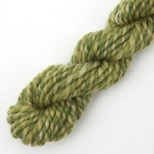 コリデールツイード グリーン系no2 ゲージ用糸サンプル ( twe5) 手紡ぎ毛糸オーダー
