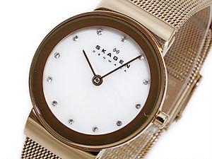 スカーゲン SKAGEN クオーツ レディース 腕時計 358SRRD ホワイト ホワイト