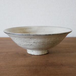 増田勉|粉引彫三島取り鉢15㎝ Masuda Tsutomu kohiki hori-mishima bowl