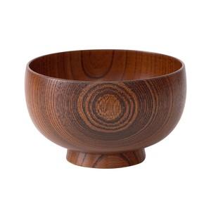 山中漆器 白鷺木工 汁椀 しらさぎ椀 M 約11cm けやき 漆茶  380147
