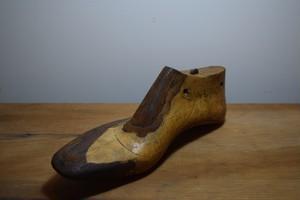 アンティーク 靴 レザー付き木型/WOODEN LEATHERSHOE MOLD