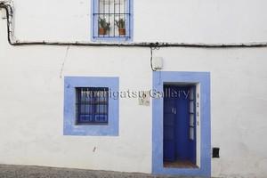 【10枚限定・額装写真】青い扉と窓