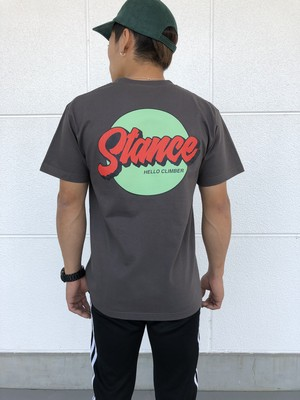 STANCE circle tee/Charcoal