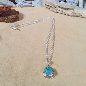 Native American Turquoise silver ネックレス ③