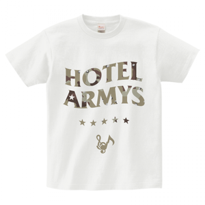 H/A LOGO STAR ICON T-SHIRTS WHITE x DESERT-CAMO