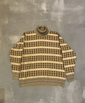JAEGER Washable Turtleneck Sweater / Made in Great Britain [2025]