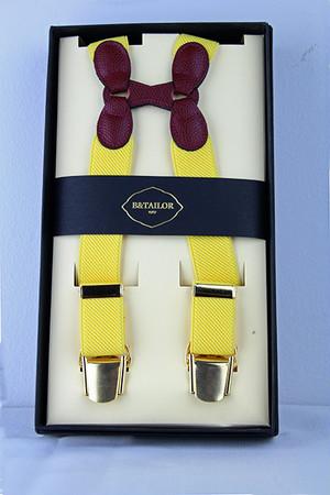 B&Tailor Suspender -Yellow サスペンダー