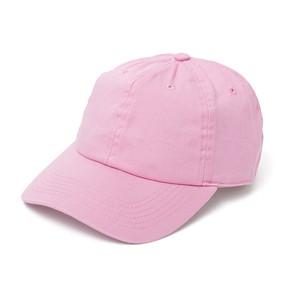 コットン ベースボールキャップ ピンク
