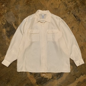 00s Open Collar Silk Shirt