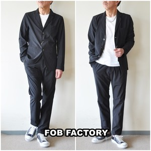 FOB FACTORY エフオービーファクトリー  デパーチャー セットアップ テーラードジャケット パンツ 上下 f2364.f0455