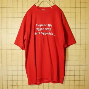 USA製 sport wear 両面プリント Tシャツ 半袖 レッド メンズL ヘインズ 古着 051320ss46