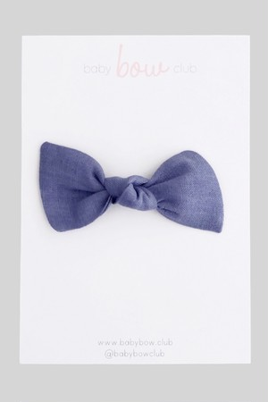 BABY BOW CLUB  Steel Linen // Knot Bow