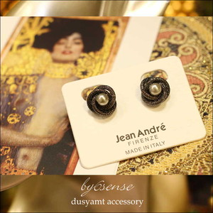 blackchain pearl medeinitary earring
