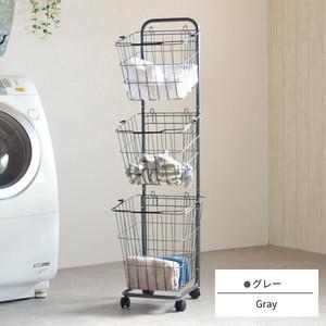 Laundry Wagon 3 Baskets / ランドリーワゴン 3段バスケット
