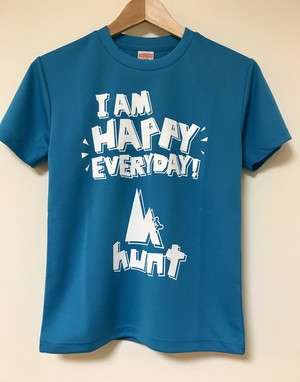 KIDS-001 ACTIVE 『HAPPY』 T-SHIRT ・ターコイズブルー