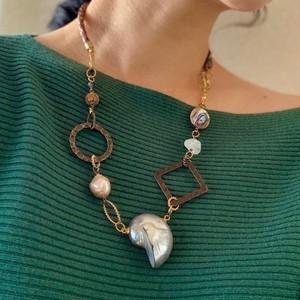 オウム貝 真ちゅう ネックレス