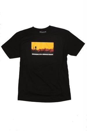 *ブルックリンインダストリーズ*スカイラインTシャツ 黒 BROOKLYN INDUSTRIES 日本未発売