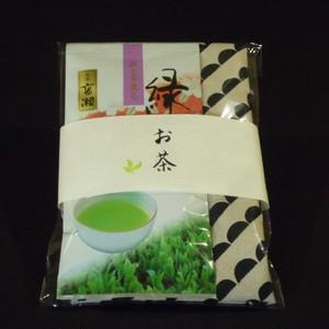 香川茶 煎茶 高瀬 オリジナルあずま袋セット(半円・黒)