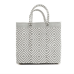 MERCADO BAG MULTI DIAMOND- Silver x White(M)