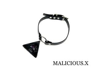 eye ring choker/ violet × pink(black)