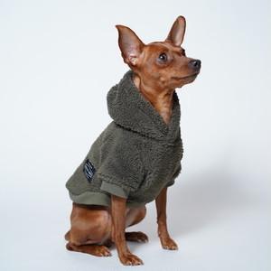 DOGGY BRO. #NUKUMORI DOG HOODIE【オリーブ/S-Mサイズ】