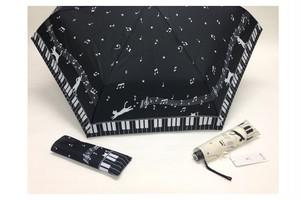 鍵盤と猫の折り畳み傘(雨傘専用)