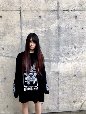 LIFEISHEAVY EYE OF PROVIDENCE L/S TEE / BLACK