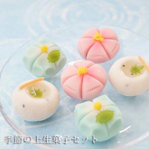 季節の上生菓子詰合せ6個セット【店頭受取不可】
