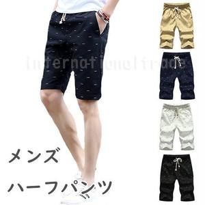 予約 メンズファッション ハーフパンツ 5分丈 夏 男性 紳士 大人 シンプル ひざ丈 ショートパンツ ショート丈 ズボン 半ズボン ブラック ネイビー ホワイト ベージュ cw-a-5394