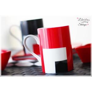 【マグカップ】*赤×黒が目を惹く♪スタイリッシュなマグカップ*
